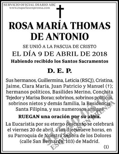 Rosa María Thomas de Antonio